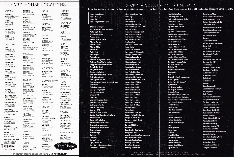 Whereisthemenu Net Yard House Multiple Locations Us California