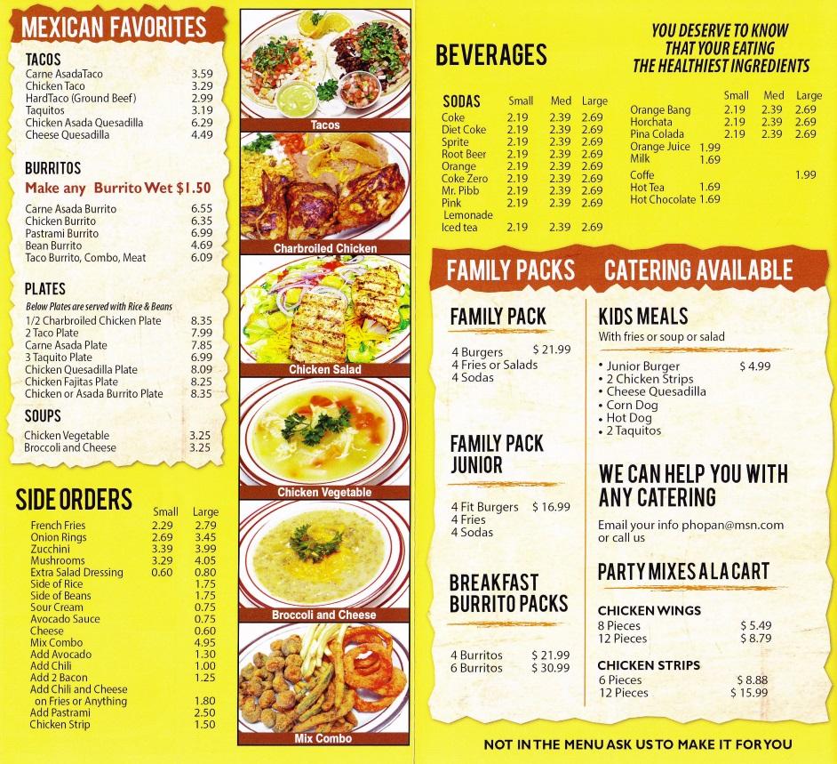 Fantastic Burger Long Beach Menu