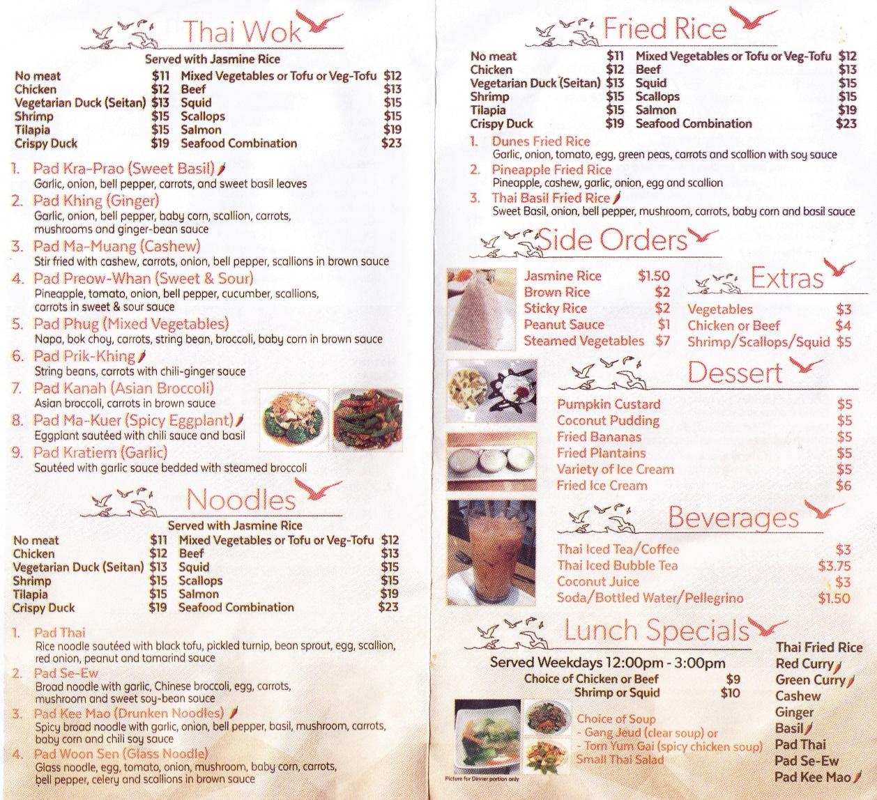 Whereisthemenu.net | Thai Kitchen by the Sea - Arverne, NY 11692
