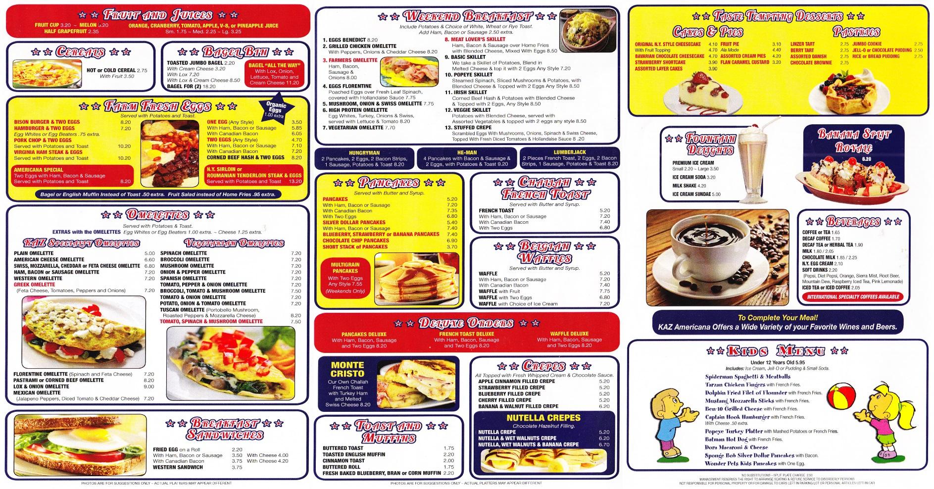 Whereisthemenu Net Americana Diner Middletown Ny 10940