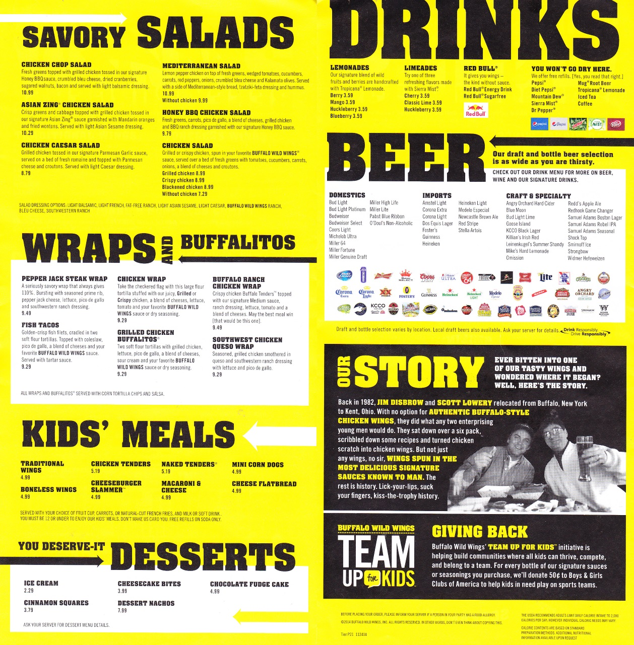whereisthemenu | buffalo wild wings - middletown, ny 10941