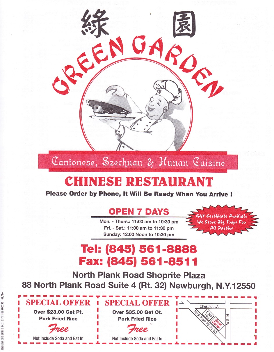 Whereisthemenu Net Green Garden Newburgh Ny 12550