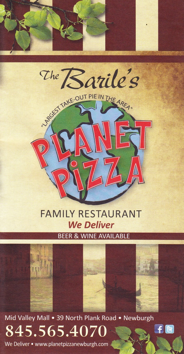 Whereisthemenunet Planet Pizza Newburgh Ny 12550