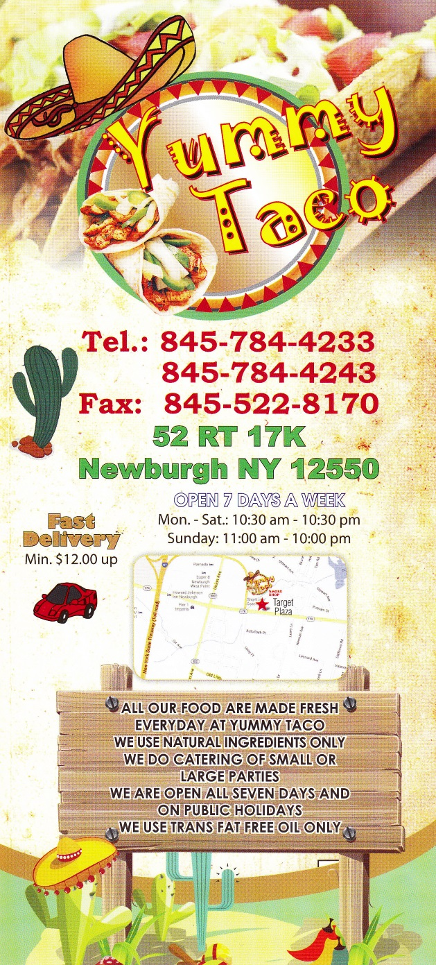 Whereisthemenu.net   Yummy Taco   Newburgh, NY 12