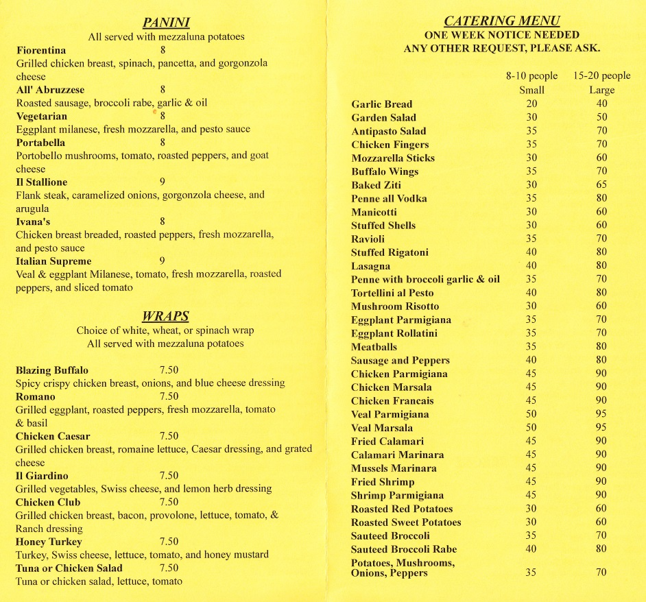 Whereisthemenu Net Ivana S Cucina New Windsor Ny 12553